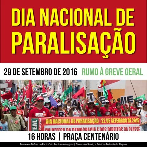 DIA Nacional de Paralisação - 29-09