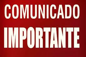COMUNICADO IMPORTANTE DEZEMBRO 2017